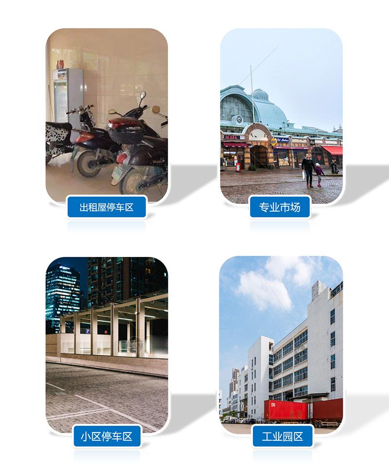 使用场景-出租屋停车区-专业市场-工业园区-小区停车区-广州奔想智能科技有限公司