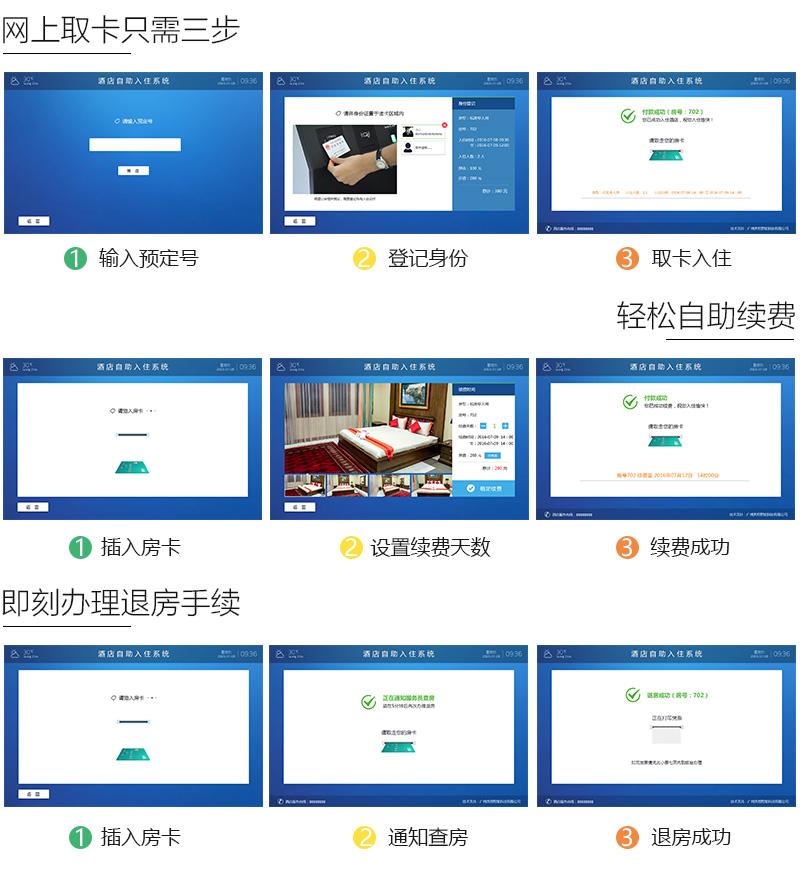 自助取卡、轻松续费、退房办理操作-广州奔想智能科技有限公司
