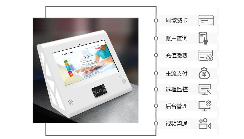 刷卡缴费、账户查询、充值缴费、主流支付、远程监控、后台管理、视频沟通-广州奔想智能科技有限公司